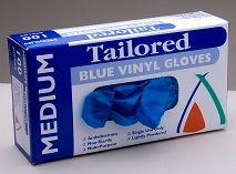Glove Vinyl Blue Medium Pkt 100