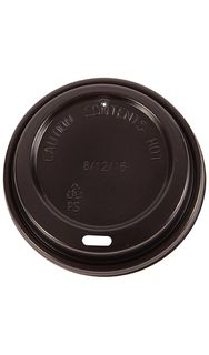 Triple Wall Lid 8oz Black Slv 50