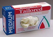 Glove Vinyl Clear Medium Powder Free Carton