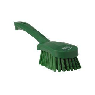 Vikan Churn Brush, Short Handled, Medium Bristle, Green 270mm