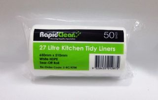 Kitchen Tidy White Medium 27Lt Roll 50