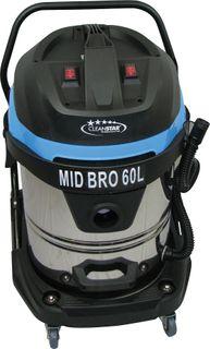 Cleanstar Bro Series Wet/Dry S/Steel Vacuum Cleaner 60Lt Mid Bro