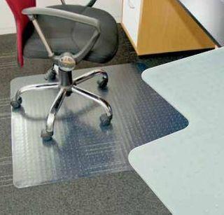 Mat PVC Chair Mat Grippers .9m x 1.2m
