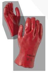 Glove Red PVC 45cm