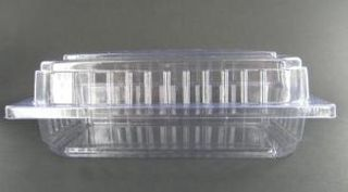 Hinged Container Clear Rectangular Clam 170x95x60 Slv 100