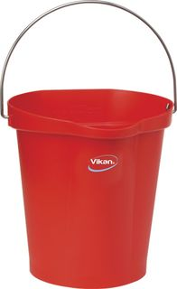 Vikan Hygiene Bucket Heavy Duty 12L Red