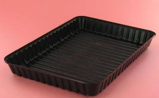 Vegetable Tray 9x7 Black Ctn 1250