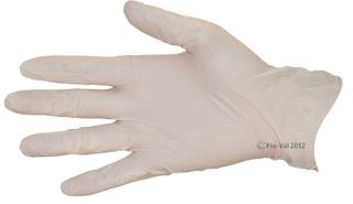Glove Stretch Vinyl Clear Medium Examination P/Free Pkt100