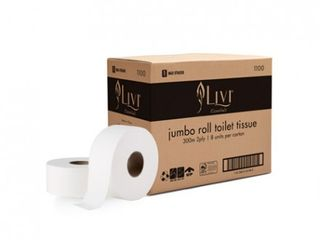 Livi Essentials Jumbo 2ply 300m Ctn 8   1100E
