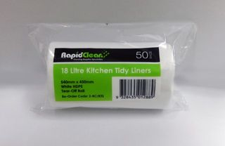 Kitchen Tidy White 18Lt Roll 50