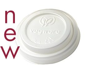 Vegware Hot Cup Lid Fits 4oz Cup Slv 50
