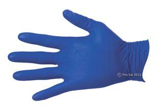 Glove NiteSafe Nitrile Blue Examination P/Free Medium Pkt 100