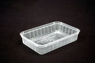 Genfac Ribbed Container Rectangle 500ml Slv 50