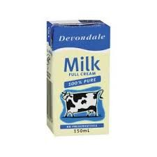 Milk Portions Devondale UHT 150ml Ctn 32