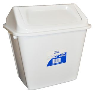 Bin Swing Top Tidy White  20Lt