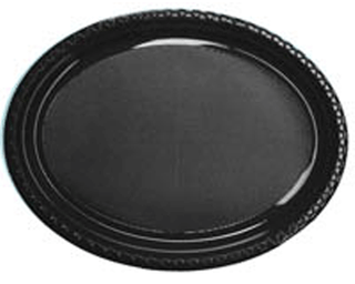 Plate Oval Black 210x300 Pkt 50