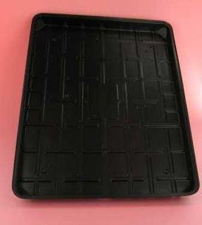 Tray Plastic Black 8x7 Slv 125