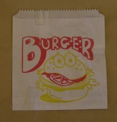 Bag 1 Square Burger GR Pkt 1000
