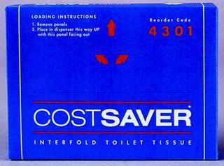 Interfold Toilet Tissue CostSaver 1Ply 200Sht Pkt 72Pks per Ctn