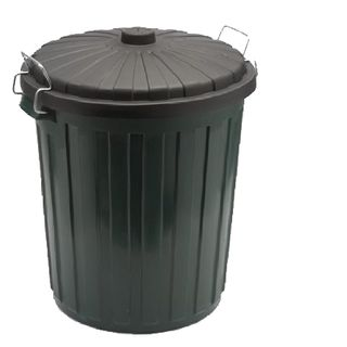 Garbage Bin 46Lt Green Plastic  w/lid