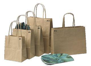Loop Handle Brown Kraft  Bag Runt Ctn 250  BR