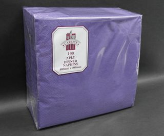Dinner Napkin Purple 2 Ply 100