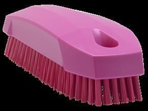 Vikan Hand Brush/ Nailbrush 130 mm, Hard, Pink