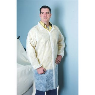 Lab Coats White Disposable No Pockets Ctn 50