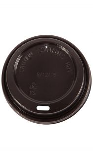 Triple Wall Lid 8oz Black Slv 100
