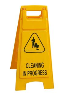 Paramount Safety Wet Floor A Frame Cleaning in Progress Yellow