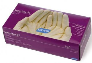 Glove Securitex Latex Medium P/Free Examination Pkt 100