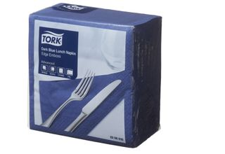 Tork Lunch Napkin Dark Blue   2P Quarterfold  Pkt 100
