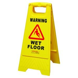 Wet Floor Pall Mall A Frame Yellow (Personalised Logo)