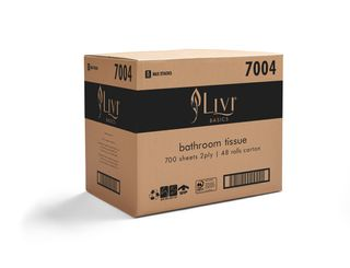 Livi Basics Toilet Roll 2Ply 700 sheet Ctn 48