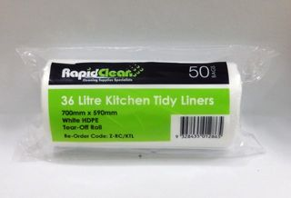 Kitchen Tidy White Large 36Lt Roll 50