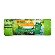 Compostable Bin Liner Green Extra HD 80Lt Roll 10