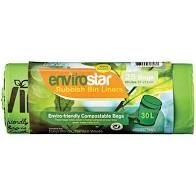 Compostable Bin Liner Green 30Lt Roll 25