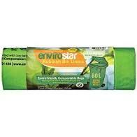 Compostable Bin Liner Green 80Lt Roll 20