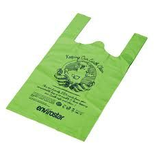 Compostable Singlet Bag Medium Green Pkt 100