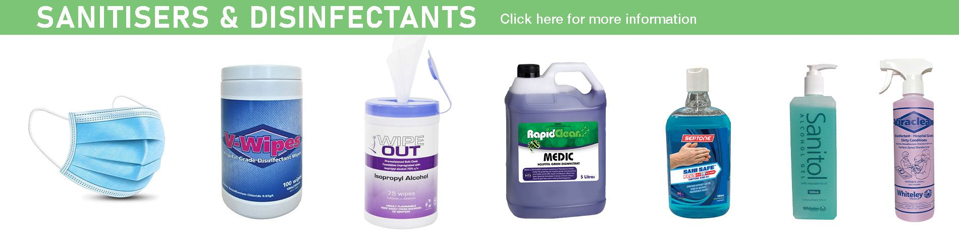 Sanitisters and Disinfectants