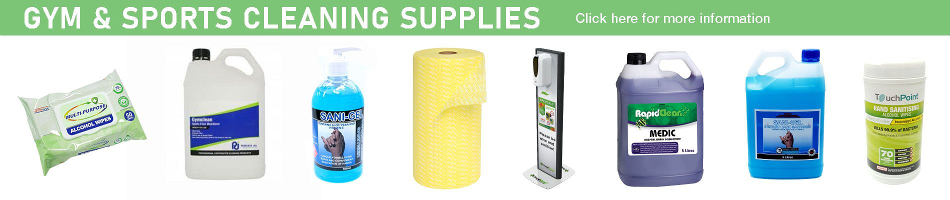 Gym and Sports Cleaning Supplies