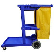 Janitor Cart Complete with Bag BLUE