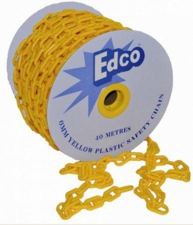 Edco Yellow Plastic Safety Chain