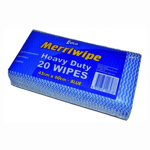 Merriwipe H/Duty Wipe Pkt/20 Blue