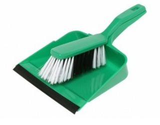 Edco Dust Pan & Brush Set Green only