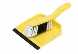 Edco Dust Pan & Brush Set Yellow on