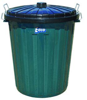 Garbage Bin & Lid Plastic 55 Ltr - Green