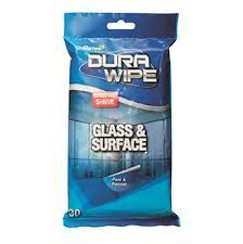 Oates Durawipes Glass & Surface Box 8pkt