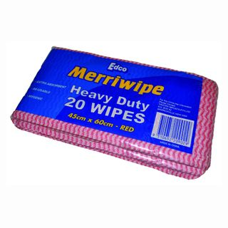 Merriwipe H/Duty Wipe Pkt/20 Red
