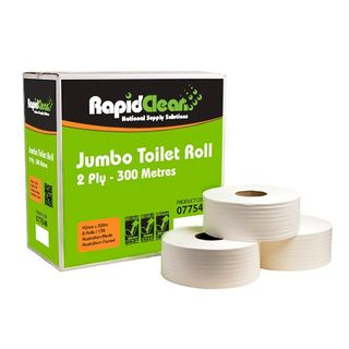 Rapid 300 Jumbo Toilet Roll 2ply Ctn 8